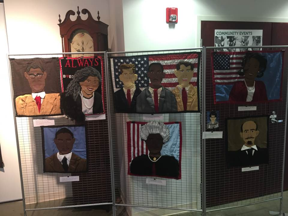 Quilts on display in 2016