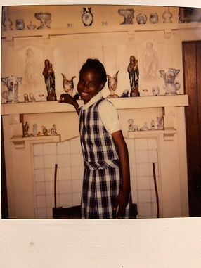 Riché Richardson at home after school, age 11