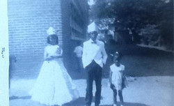Pam, at age 4, with Mary and Jr.