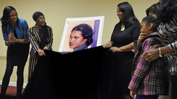 The historic stamp unveiling