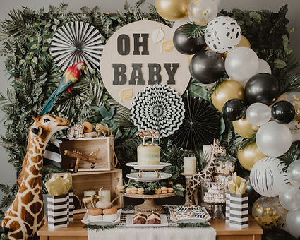 Safari Baby Shower Backdrop