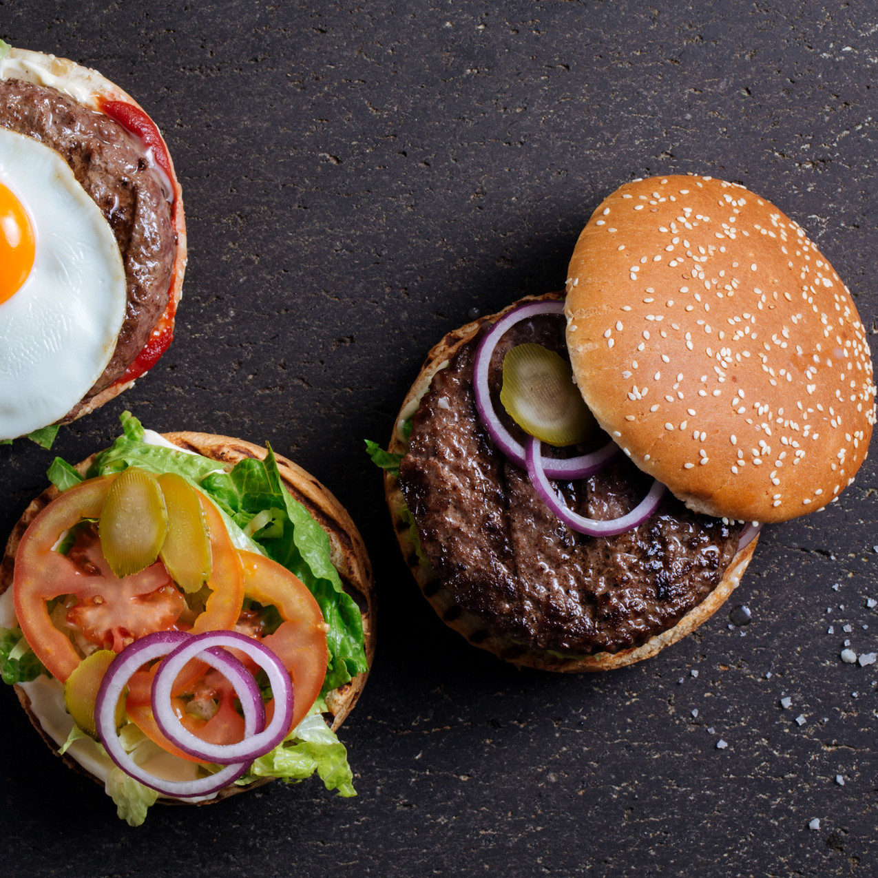 Hamburger Top View