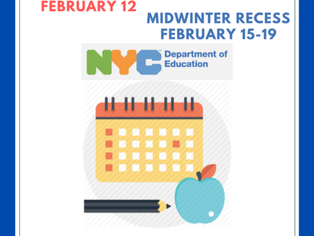 School Closed February 12-19 for Lunar New Year & Midwinter Recess