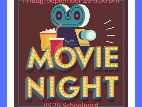Movie Night! Friday, September 20th!