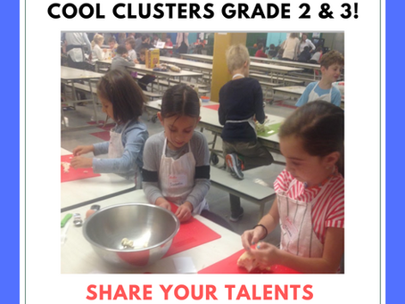 Cool Clusters for Grades 2 & 3 begin December 4th!