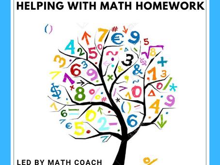 Parent Workshop Series: Math Homework!