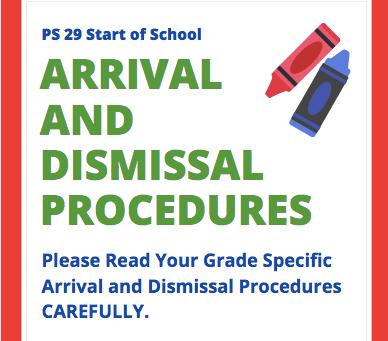 Arrival and Dismissal Procedures