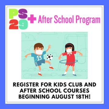PS29+ is Back! Registration begins August 18th.