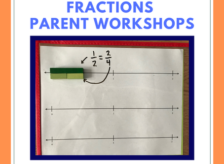 Fractions Parent Workshops with Ms. Van Duzer, for grade 3