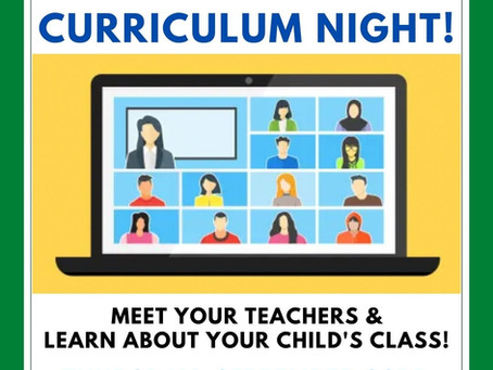 Join us for Curriculum Night!
