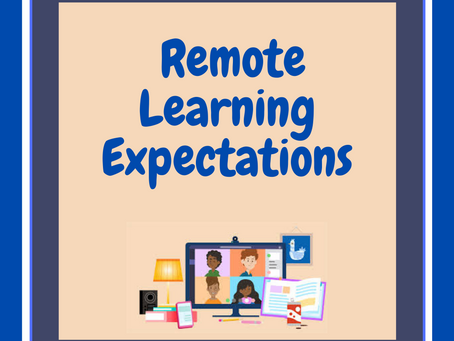 Remote Learning Expectations for Families