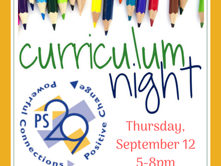Join us for Curriculum Night + the first PTA meeting! Thursday, Sept 12th