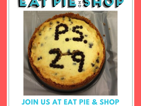 Eat Pie and Shop, Sunday, December 8th!