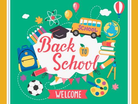 Welcome Back! School begins Thursday, September 5th!