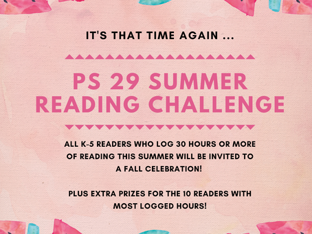 PS29 Summer Reading Challenge!
