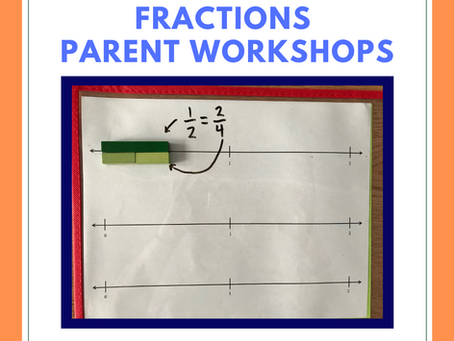 Fractions Parent Workshops with Ms. Van Duzer, for grades 4 and 5
