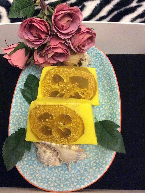 Pineapple Handmade Soap Bar with Loofah
