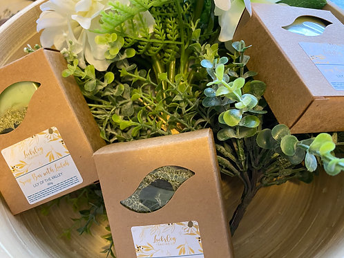 Lily of the Valley Handmade soap bar with Loofah