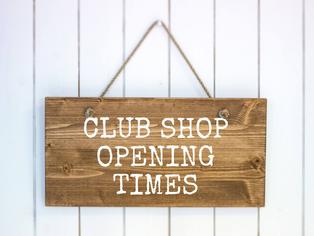 Club Shop Open Hours over Summer