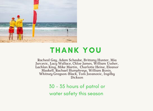 Patrol & Water Safety Thank you!