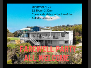 Farewell Party Sunday April 21st