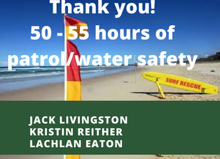 50 - 55 hours of patrol & water safety!