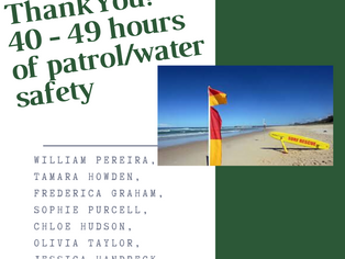 40 - 49 hours of patrol or water safety!