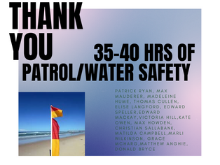 35 - 40 Hours of Patrol & Water Safety