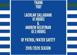 Top patrollers 2019/2020 season