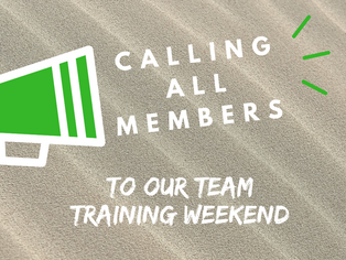 Team Building/Training Weekend registrations now open (close Monday)