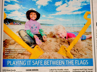 Herald Sun coverage of refugee and migrant children visiting Anglesea