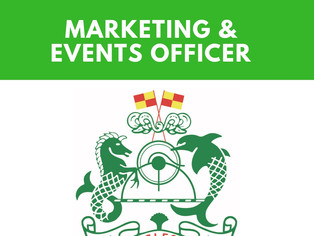 We're hiring! Marketing & Events Officer