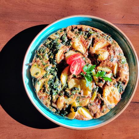Spinach and Potato Frittata/Tortilla