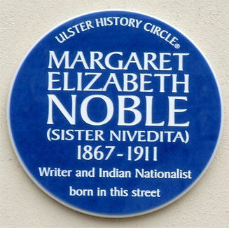 Blue Plaque for Sister Nivedita