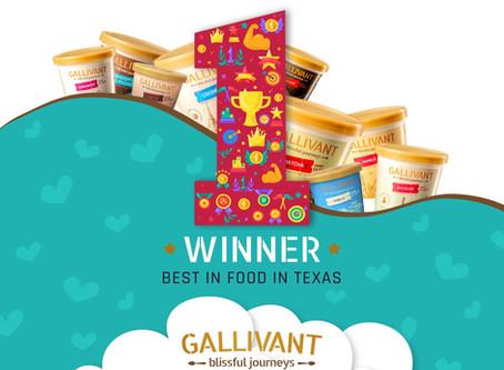 Gallivant Ice Creams WON Best Food in Texas!