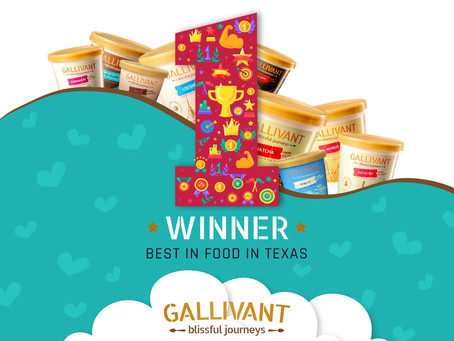 Gallivant Ice Creams WON Best Food in Texas!