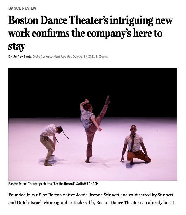 Boston Dance Theater's intriguing new work confirms the company's here to stay - The Bosto