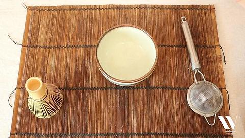 préparation du thé matcha