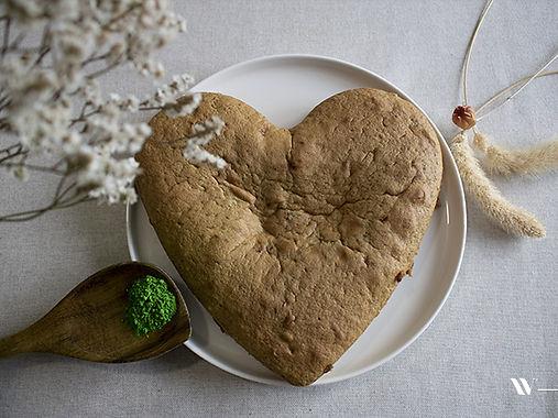 Gâteau moelleux au Matcha Bio et framboise