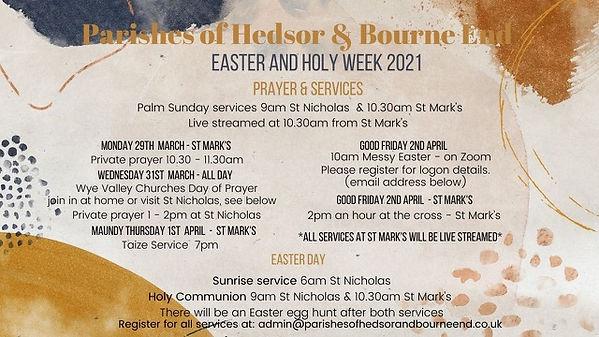 Parishes of hedsor and bourne end Easter