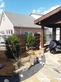 Xeriscape custom wood privacy wall panel