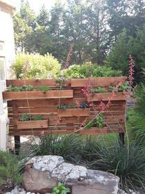 cedar wood privacy wall panel herb garde