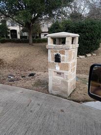 Mailbox Mixed Stone