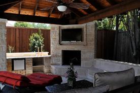 TVMedia Fireplace Stone