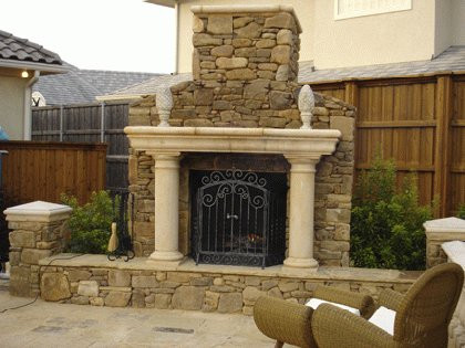 Fireplace Stone Precast Concrete Accent
