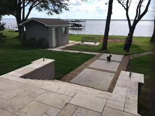 Concrete & Gravel Walk Path