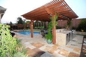 pergola_kitchen_flagstone_patio_swimming