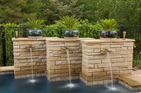 water fountain stone column