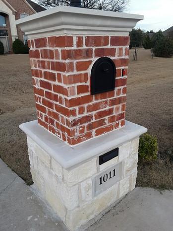 Mailbox Custom Brick Stone Concrete