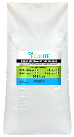 60 litre bag of Ecolite lightweight aggregate